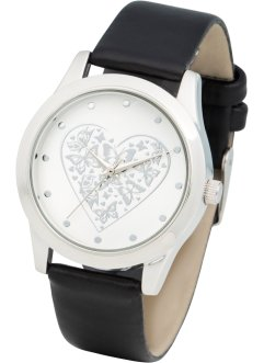 Uhr mit Herzmotiv, bpc bonprix collection