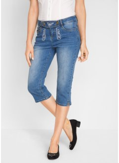 3/4-Trachtenjeans mit Stickerei, bpc bonprix collection
