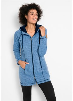 Long-Fleecejacke, bpc bonprix collection
