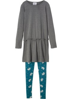 Mini-Langarmkleid + Leggings, bpc bonprix collection