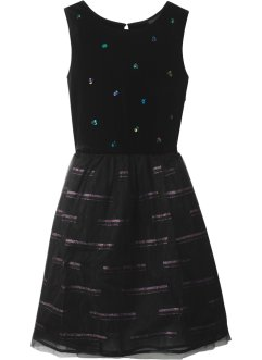 Robe en velours avec tulle, bpc bonprix collection