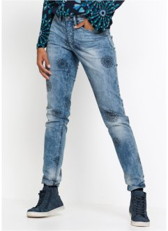 Authentik-Stretch-Jeans, bedruckt, CLASSIC FIT, John Baner JEANSWEAR