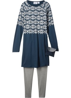 Langarmkleid + Leggings + Umhängetasche (3-tlg.Set), bpc bonprix collection