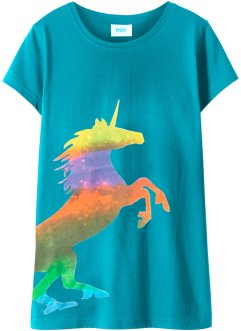 T-shirt fille avec imprimé licorne, bpc bonprix collection
