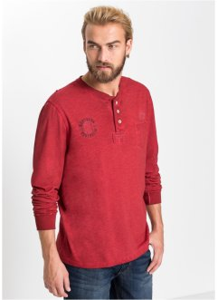 Langarmshirt mit Knopfleiste, bpc bonprix collection