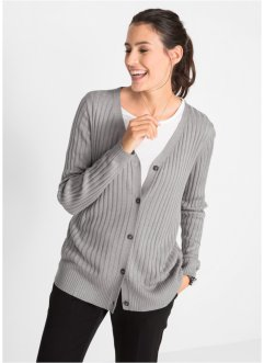 Ripp-Strickjacke aus Viskose, bpc bonprix collection