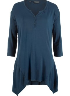Zipfel-Shirt mit Henley-Kragen, bpc bonprix collection