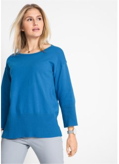 Pull en maille à col rond, bpc bonprix collection
