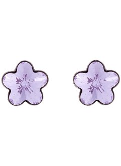 Boucles d'oreilles serties de cristaux Swarovski®, bpc bonprix collection