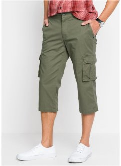 Pantalon cargo extensible 3/4 avec taille flexible, bpc bonprix collection