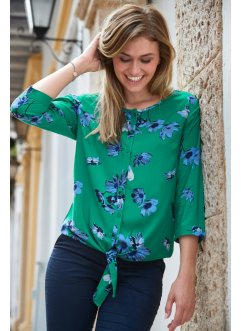 3/4-Arm Bluse mit Blumendruck, bpc bonprix collection