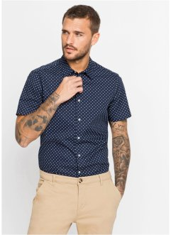 Chemise manches courtes à imprimé all-over Slim Fit, bpc selection