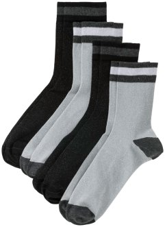 Socken mit Glitzergarn (4er-Pack), bpc bonprix collection