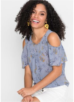 Cold-Shoulder-Bluse, bedruckt, BODYFLIRT