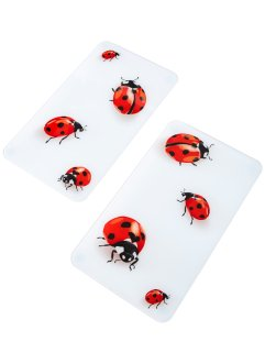 Lot de 2 plaques de protection Coccinelle, bpc living
