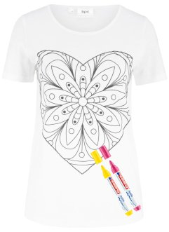 T-shirt coloriage (avec 2 feutres inclus), bpc bonprix collection