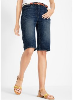 Short en jean extensible à taille confortable aspect usé, bpc bonprix collection