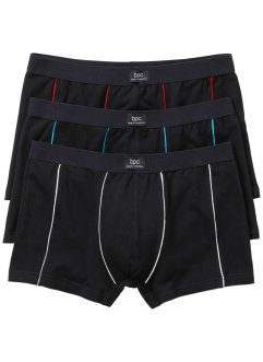 Lot de 3 boxers coutures colorées, bpc bonprix collection