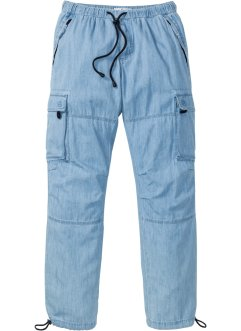 Cargo-Schlupfjeans in Sommerdenim Loose Fit Straight, John Baner JEANSWEAR