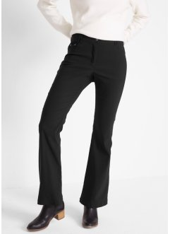 Pantalon extensible amincissant en bengaline, flared, bpc bonprix collection