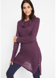 Pull long en maille avec boutons, bpc bonprix collection