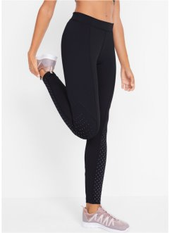 Sport-Thermo-Leggings mit reflektierenden Druck, Level 2, bpc bonprix collection