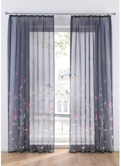 Voilage transparent imprimé floral (1 pce.), bpc living bonprix collection