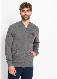Gilet sweat-shirt col baseball, bpc bonprix collection
