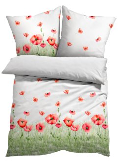 Bettwäsche mit Mohnblumen, bpc living bonprix collection