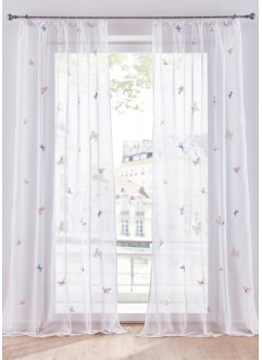 Transparente Gardine mit Stickerei (1er Pack), bpc living bonprix collection