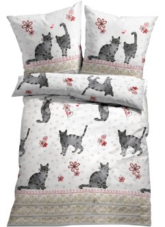 Bettwäsche mit Katzen, bpc living bonprix collection