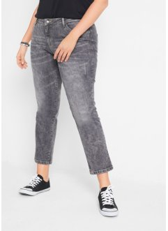 Authentik-Stretch-Jeans, verkürzt, STRAIGHT, John Baner JEANSWEAR