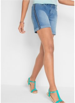 Short en jean en soft stretch avec rivets, John Baner JEANSWEAR