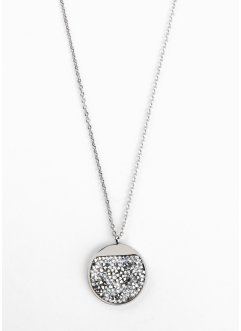 Collier en acier inoxydable orné de cristaux Swarovski®, bpc bonprix collection