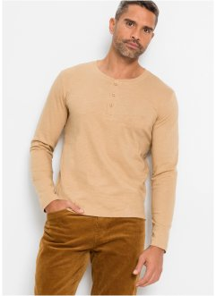 T-shirt col Henley, bpc selection
