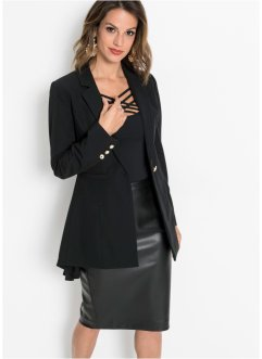 Blazer long à bouton bijou, BODYFLIRT boutique