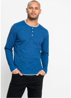 T-shirt col Henley, manches longues, bpc bonprix collection