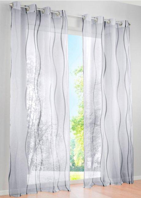 Luftig Leichte Gardine »Vienna« in transparenter Optik   weiss