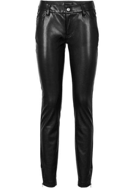 noir fr Pantalon cuir imitation BODYFLIRT Femme synthétique tPYqYxrZ