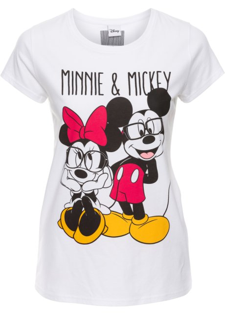 T-Shirt Mickey Mouse kurzer Arm in rosa von bonprix Disney 8K216ZeUv