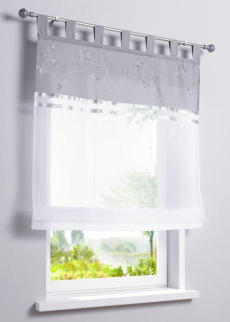 raffrollo wei grau icnib. Black Bedroom Furniture Sets. Home Design Ideas