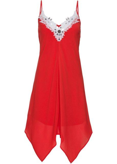 8faca92b7b66 Robe à dentelle rouge blanc - Femme - BODYFLIRT boutique - fr.bonprix.ch