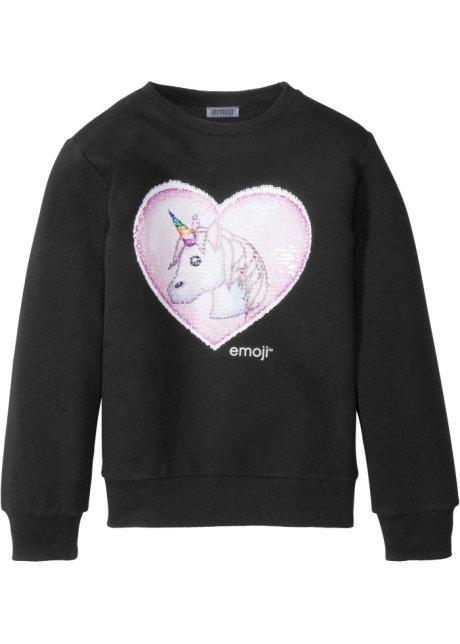 a233160bcc Locker geschnittenes Sweatshirt mit Wendepailletten und rundem ...