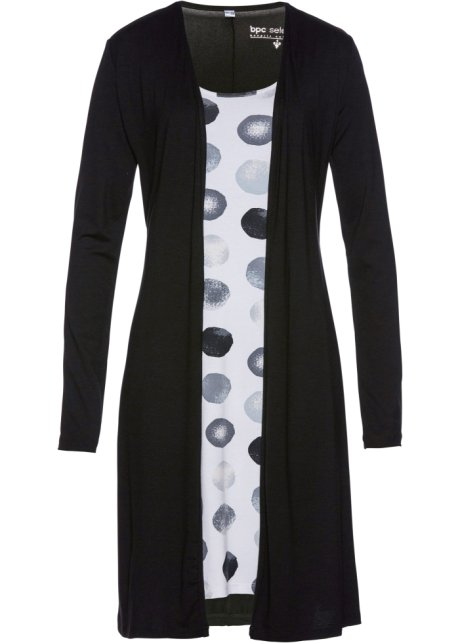 b4ec4d8b7bfc Shirtkleid in Doppeloptik schwarz weiss bedruckt - Damen - bpc ...