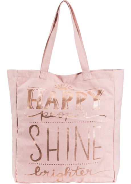 2df3176c65f20 Stofftasche rosa  roségoldfarben metallic - bpc bonprix collection ...