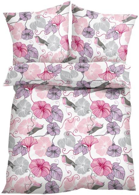 Die Bettwäsche Lissy Zeigt Ein Hübsches Blumen Motiv Rosagrau