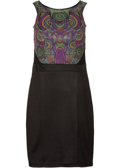 55e6c901f537 Robe de soirée avec pierres brillantes noir - Femme - BODYFLIRT ...