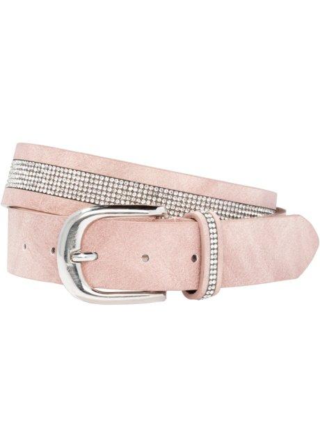 f802bc884b1ab3 Ein modischer Blickfang: Gürtel mit Strass - rosa/silberfarben