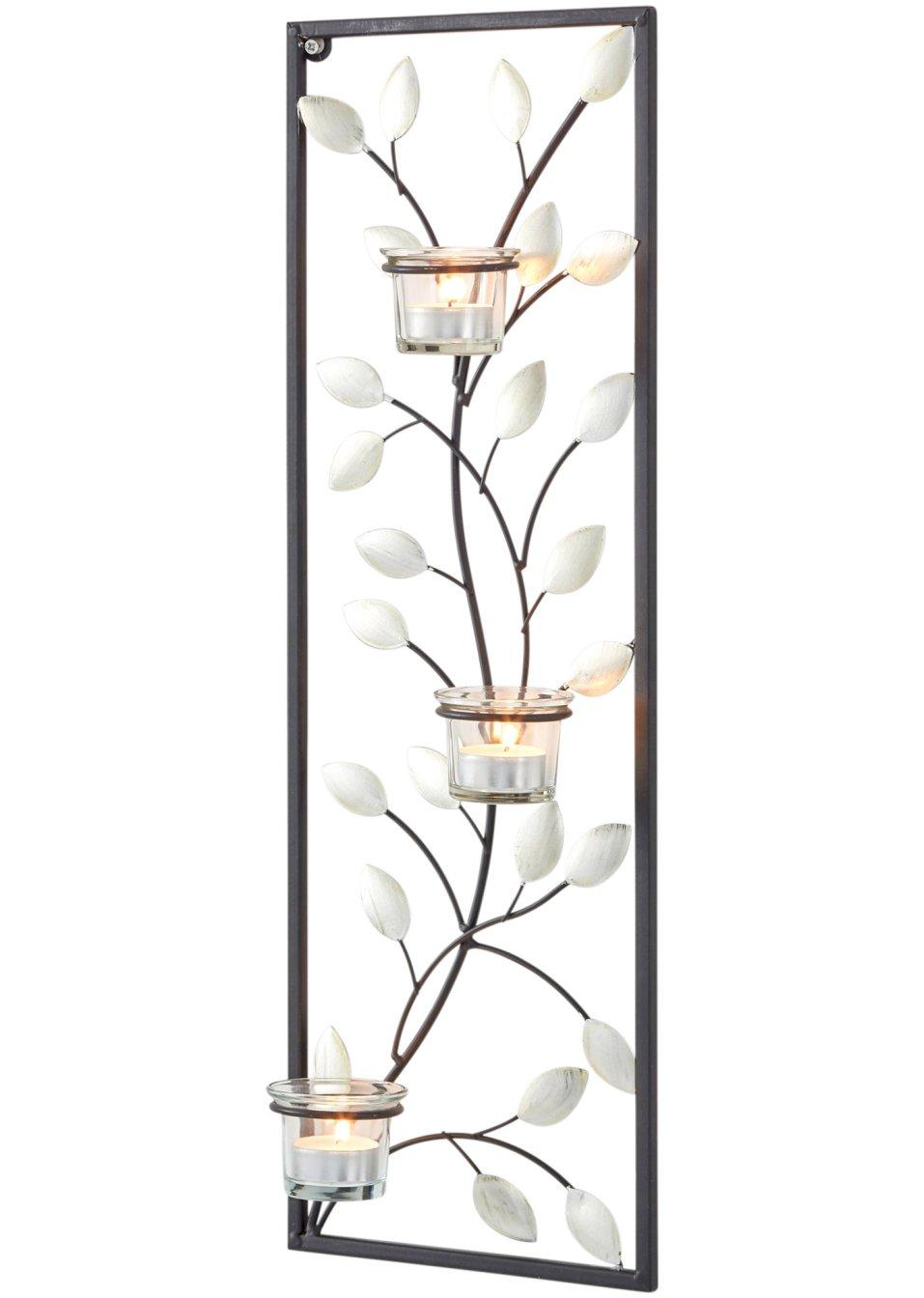 F r stilvolle wanddekorationen der wandkerzenhalter lilly schwarz transparent - Wandkerzenhalter schwarz ...