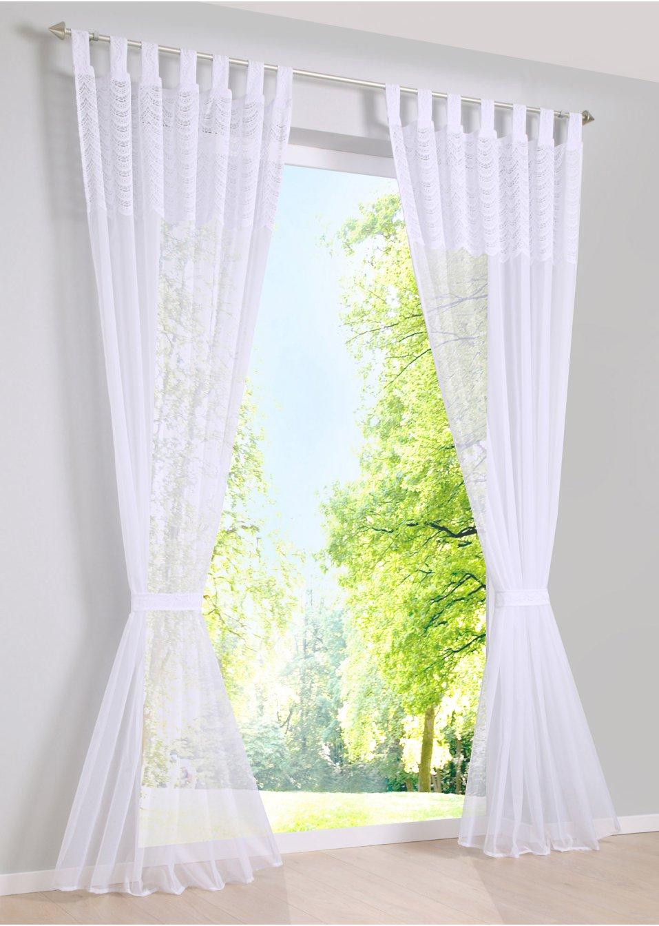 gardine darina 1er pack weiss bpc living online kaufen. Black Bedroom Furniture Sets. Home Design Ideas